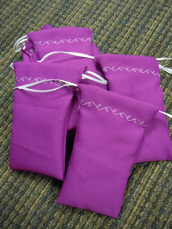fuschia purple favor bags