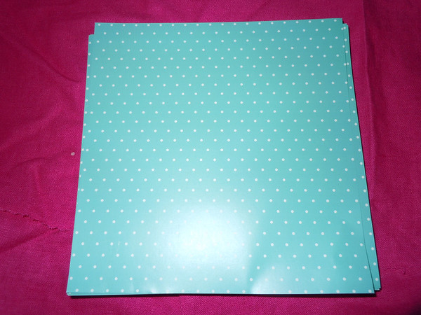 envelope liner tiffany blue polka dot