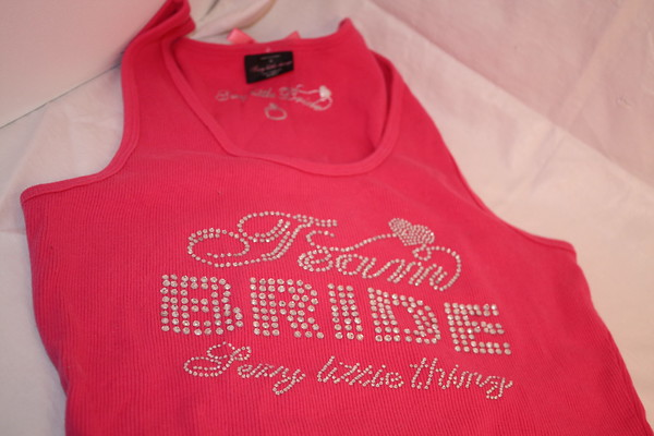 Team bride bridesmaid tank top victoria secret pink
