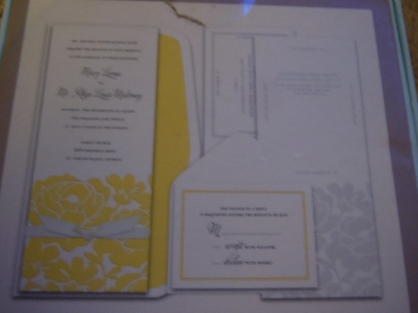 Ana Griffin Target White Yellow Invitation Set
