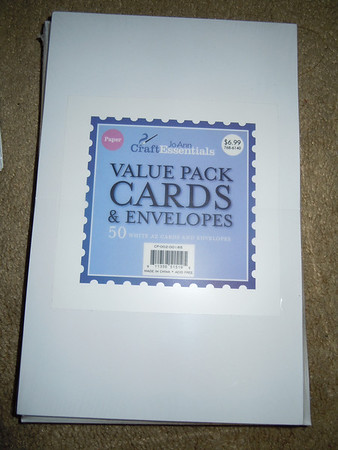JoAnn Value Pack Cards and Envelopes Print Your Own