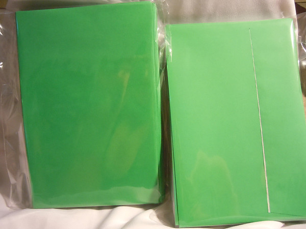 Green Self sealing Envelopes DIY