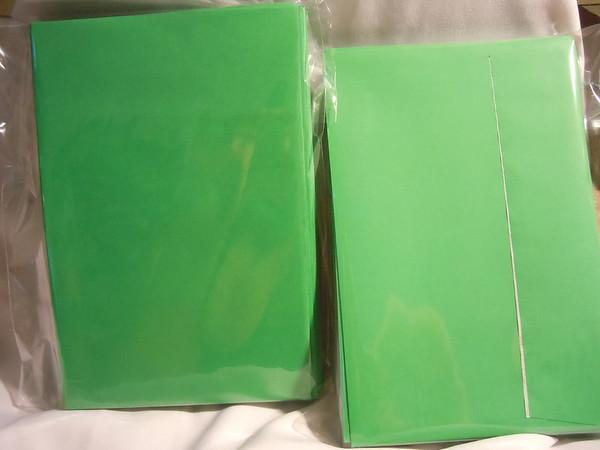 Green Self sealing Envelopes DIY